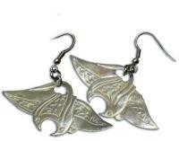 White Manta-ray Earrings
