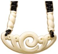 Carved Bone Pendant Necklace