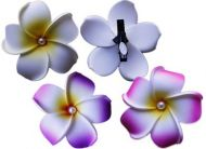 Clip Foam Flower with Pearl - Large