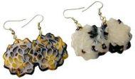 Floral Turtle Shell Earrings