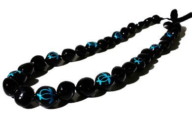 Blue Turtle Kukui Nut Lei/Necklace