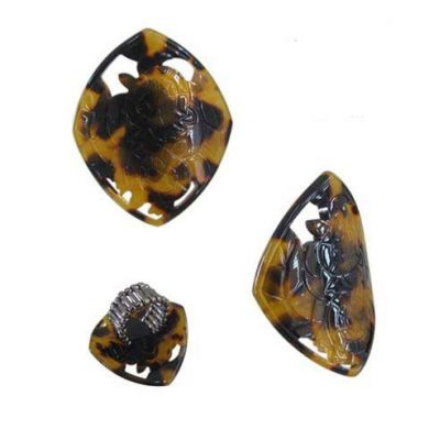 Diamond Shaped with Carved Turtles