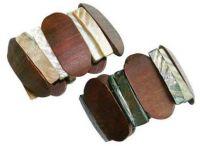 Wood & Shell Elastic Bracelets