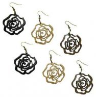 Coconut Rose Earrings