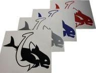 Fish & Hook Vinyl Decal Sticker