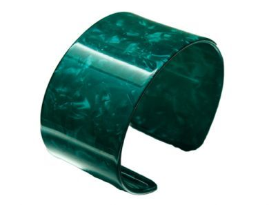 Faux Turtle Shell - Green Colored