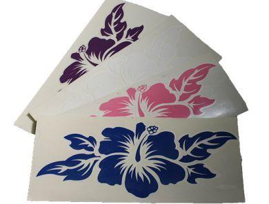 Hibiscus Vinyl Decal Sticker