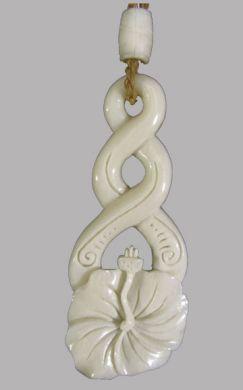 Bone Hibiscus Necklace