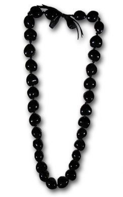 Black Kukui Nut Lei/Necklace