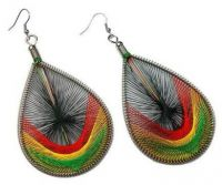 Rasta Dream Catcher Earrings - Small