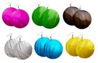 Colored Shell Earrings