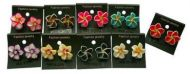 Fimo Flowers with Crystals Earrings