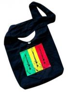 Shoulder Bag with Rasta Colored Stripes