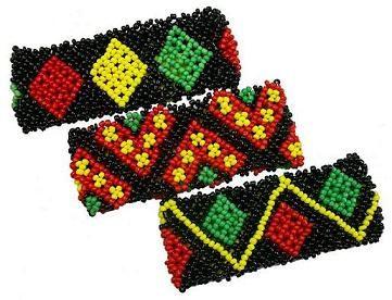 Beaded Rasta Bracelets