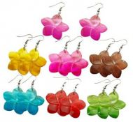 Colored Shell Flower Earrings
