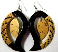 Samoan Coconut Earrings-Teardrop