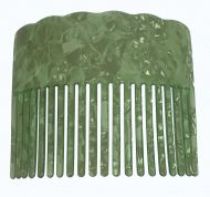 Turtle Shell Hair Comb - Lime Green