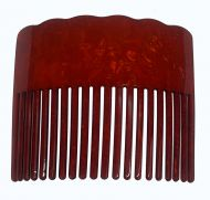Faux Turtle Shell Hair Comb - Red