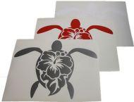Large Turtle/Hibiscus Vinyl Decal Sticker