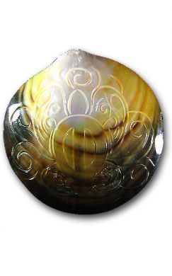 Carved Mother of Pearl Shell - Turtle