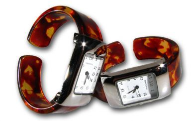 Rectangle Turtle Shell Cuff Watch