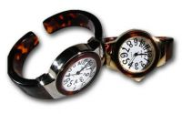 Round Large Face Turtle Shell Cuff Watch