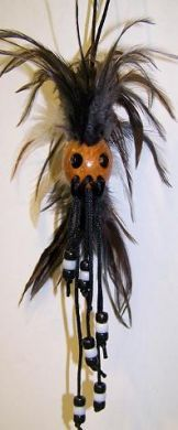 Warrior with beads & feathers-small