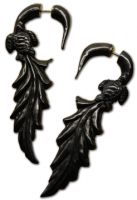Buffalo Horn Faux Gauge Earrings