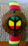 Coconut Peace Sign Bracelet