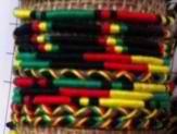 Rasta Thin Bracelet