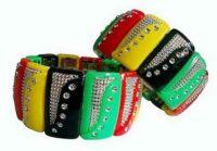 Plastic Rasta Bracelet