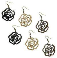 Coconut Rose Earrings