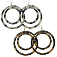 Turtle Shell Floating Earring-Circles