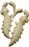 Bone Turtle Faux Gauge Earrings